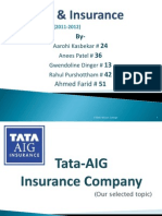Tata AIG BANKING & iNSURANCE