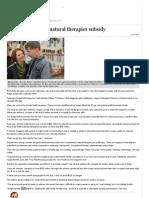 Razor Gang Targets Natural Therapies Subsidy