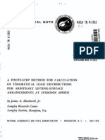 A Finite-step Method for Calculation of Theoretical Load Distributions For Arbitrary Lifting-Surface