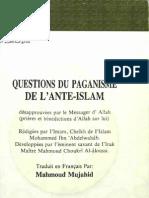 Questions du paganisme de l'anté-islam