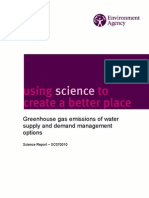 Greenhouse gas emissions of water supply and demand management options
