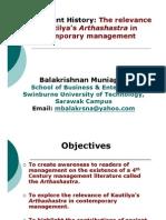 Kautilya's Arthashastra in Contemporary Management