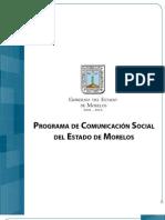 Programa de Comunicación Social del Estado de Morelos DIC 29