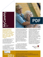 """An overview of the White Paper  """" Caring for our future- reforming care and support"""""""