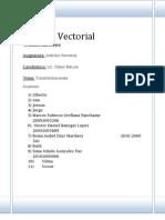 Informe Analisi Vectorial