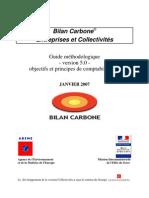 Bilan Carbone _objectifs & Principes de Comptabilisation ADEME2007