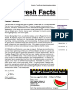 Fresh Facts - August 2012