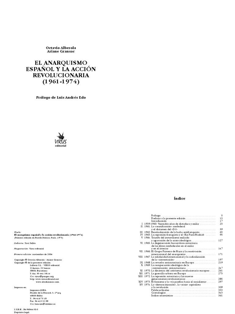 El Anarquismo Español y la accion revolucionaria
