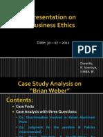Case Weber Ppt