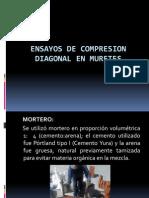 Ensayos de Compresion Diagonal en Muretes