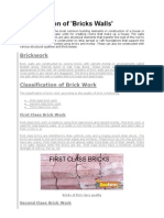 Specification of Bricks Walls