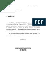 Certificado Ronald