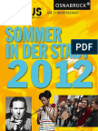 Sommer in der Stadt. Kulturprogramm Osnabrück 2012. SKP_2012