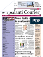 Ypsilanti Courier front page August 9