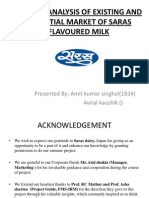 MARKET ANALYSIS OF EXISTING AND POTENTIAL MARKET OF SARAS FLAVOURED MILK