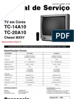 Esquema Tv Panasonic Tc 14a10 20a10 Chassis Mx5y
