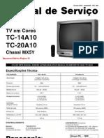 Esquema Tv Panasonic Tc 14a10 20a10 Chassis Mx5y