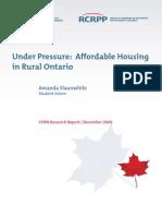 Affordable Housing Rural Ontario