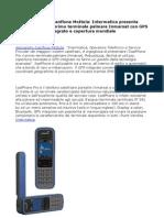 IsatPhone Pro, il primo terminale palmare Inmarsat con GPS integrato e copertura mondiale