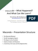 Macondo – What Happened?