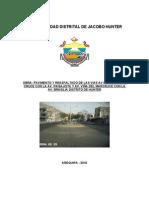 Expediente Tecnico Pistas y Veredas - Arequipa