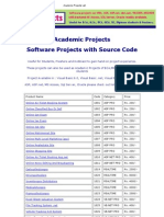 Academic Projects List