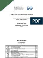 Catalogo 2011 DE TEST PSICOLOGICOS