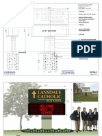 Renderings of Lansdale Catholic's proposed electronic sign