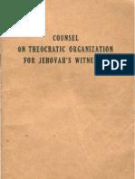1949 Counsel on Theocratic Organization