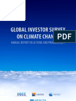 GLOBAL INVESTOR SURVEY  ON CLIMATE CHANGE ANNUAL REPORT ON ACTIONS AND PROGRESS 2011