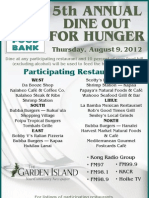 2012 Dine Out for Hunger Flyer