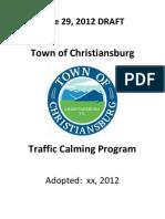 Town of Christiansburg Traffic Calming Program