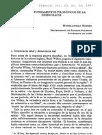 Michelangelo Bovero, Sobre Los Fundamentos Filosóficos De La Democracia