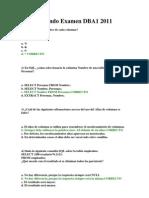Segundo Examen DBA1 2011