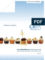 2012 Global Winners & Reporting Trends - Experienced stakeholders judge the world's leading CR reports