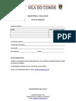 Ficha de Inscricao Basketball Challenge 2012