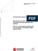 As NZS CISPR 16.4.2-2004 Specification for Radio Disturbance and Immunity Measuring Apparatus and Methods Unc