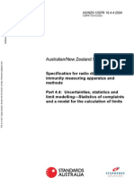 As NZS CISPR 16.4.4-2004 Specification for Radio Disturbance and Immunity Measuring Apparatus and Methods Unc