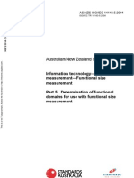 As NZS ISO IEC 14143.5-2004 Information Technology - Software Measurement - Functional Size Measurement Deter