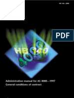 HB 140-2000 (Reference Use Only) Administration Manual for as 4000-1997 General Conditions of Contract
