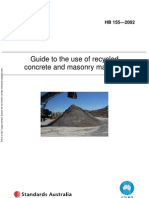 HB 155-2002 Guide to the Use of Recycled Concrete and Masonry Materials