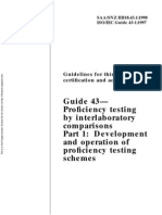HB 18.43.1-1998 Guidelines for Third-party Certification and Accreditation Guide 43 - Proficiency Testing By