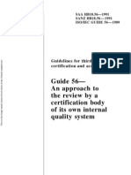 HB 18.56-1991 Guidelines for Third-party Certification and Accreditation Guide 56 - An Approach to the Review