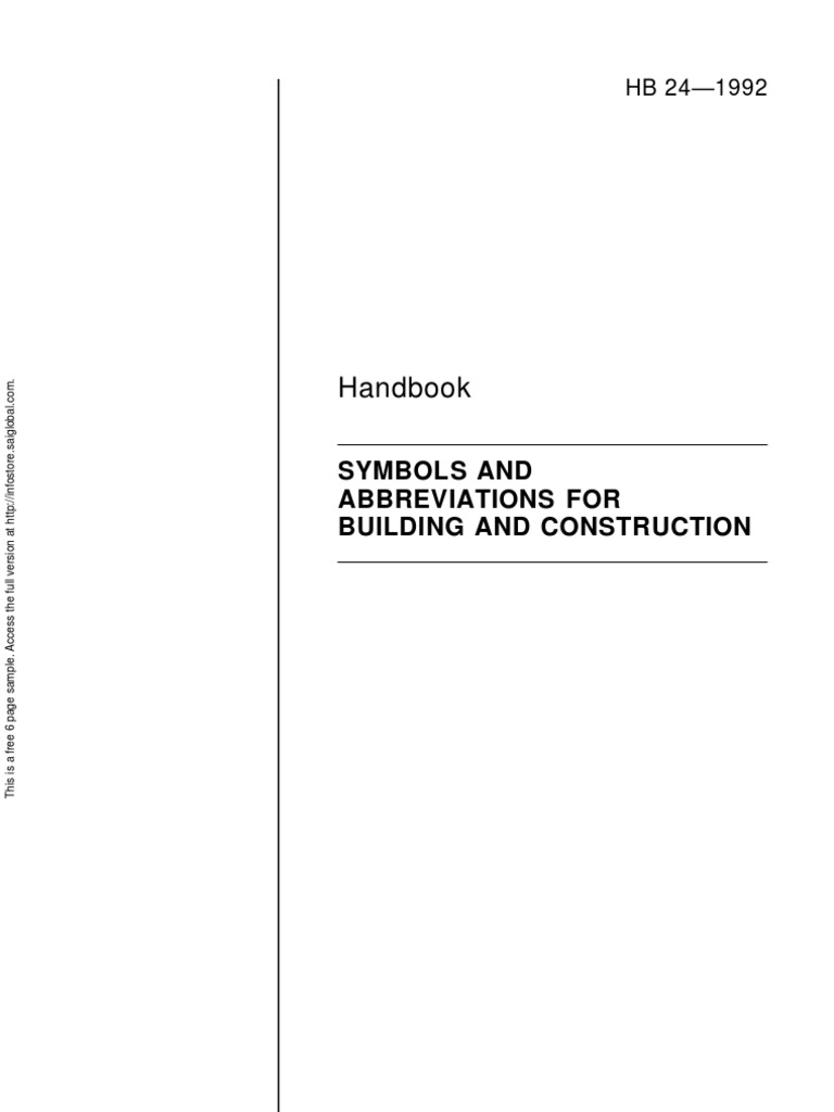 Hb 24 1992 symbols and abbreviations for building and construction hb 24 1992 symbols and abbreviations for building and construction acronym units of measurement buycottarizona
