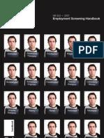 HB 323-2007 Employment Screening Handbook