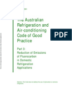 HB 40.3-2001 the Australian Refrigeration and Air-Conditioning Code of Good Practice Reduction of Emissions o