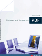 HB 405-2004 Disclosure and Transparency Frameworks