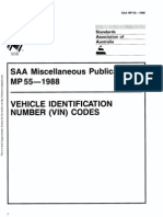 MP 55-1988 Vehicle Identification Number (VIN) Codes