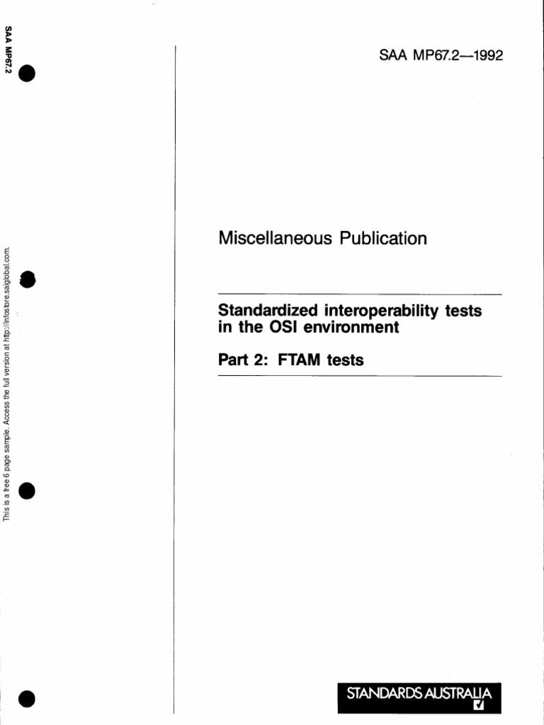 MP 67 2-1992 Standardized Interoperability Tests in the OSI