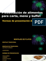 Carta, Menu y Buffet